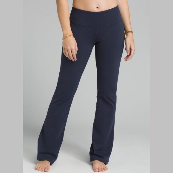 Prana Pants Jumpsuits Flare Yoga Pants Navy Blue Athletic Poshmark